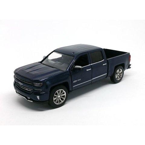Model car Chevrolet Silverado 2018 Centennial Edition blue metallic 1:27