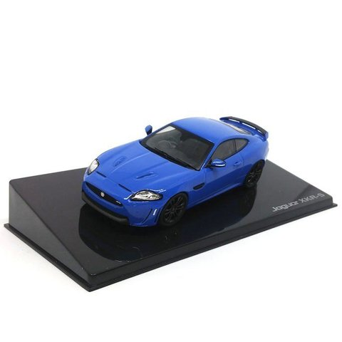 Jaguar XKR-S French racing blauw - Modelauto 1:43