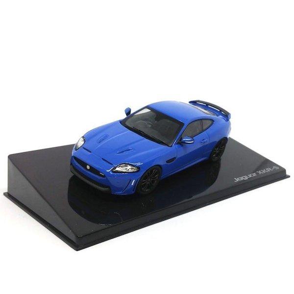Modelauto Jaguar XKR-S French racing blauw 1:43