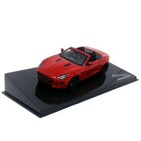 Ixo Models Jaguar F-type V8-S Convertible Salsa rood - Modelauto 1:43