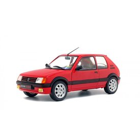 Solido Peugeot 205 GTI rood - Modelauto 1:18