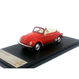 Premium X Volkswagen VW Kever Convertible 1973 rood - Modelauto 1:43