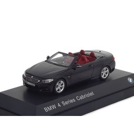 iScale BMW 4 Serie Cabriolet (F33) 2013 zwart 1:43