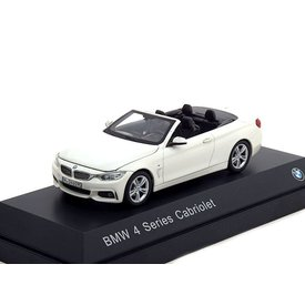 iScale BMW 4 Serie Cabriolet (F33) 2013 wit - Modelauto 1:43