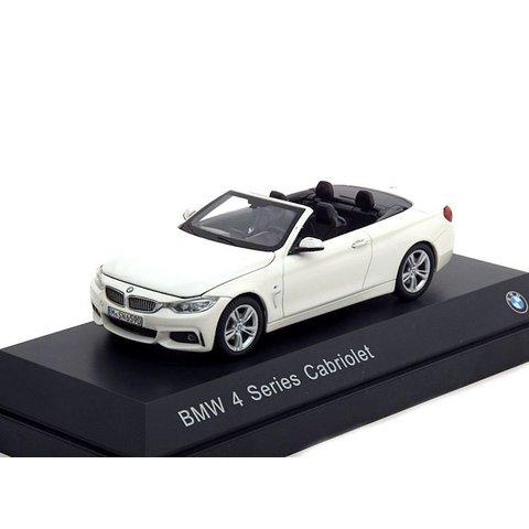 BMW 4 Series Cabriolet (F33) 2013 white - Model car 1:43