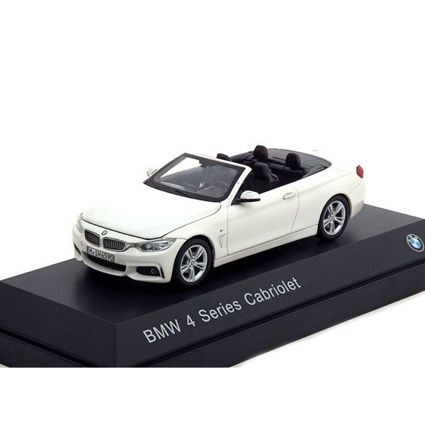 Model car BMW 4 Series Cabriolet (F33) 2013 white 1:43