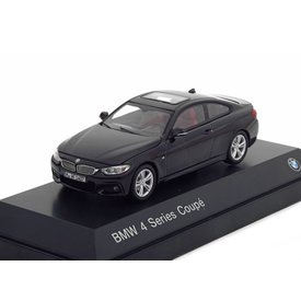 iScale BMW 4 Serie Coupe (F32) 2013 zwart - Modelauto 1:43