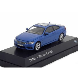 iScale BMW 4 Series Coupe (F32) 2013 blue metallic - Model car 1:43