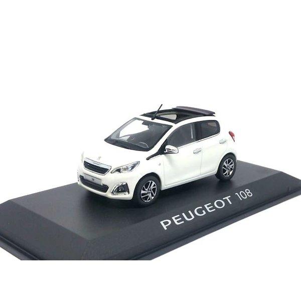 Modelauto Peugeot 108 5-deurs 2014 wit 1:43