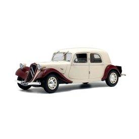 Solido Citroën Traction Avant 11CV  1938 bordeauxrood/beige - Modelauto 1:18