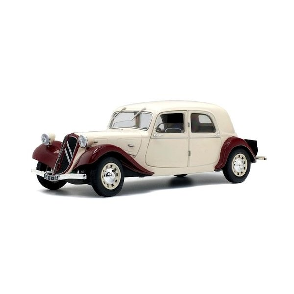 Modelauto Citroën Traction Avant 11CV  1938 bordeauxrood / beige 1:18