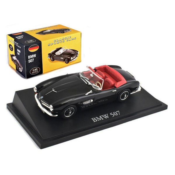 Modelauto BMW 507 zwart 1:43