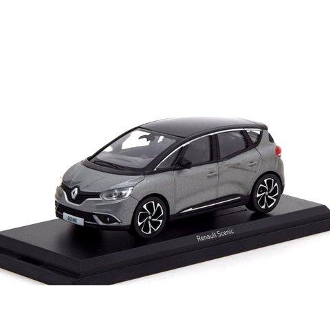 Renault Scenic 2016 grijs metallic / zwart - Modelauto 1:43