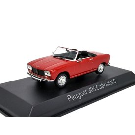 Norev Peugeot 304 Cabriolet S 1973 rood - Modelauto 1:43