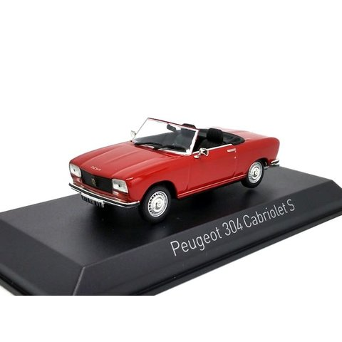 Peugeot 304 Cabriolet S 1973 rood - Modelauto 1:43