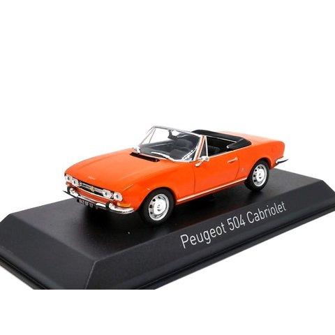 Peugeot 504 Cabriolet 1970 orange - Modellauto 1:43