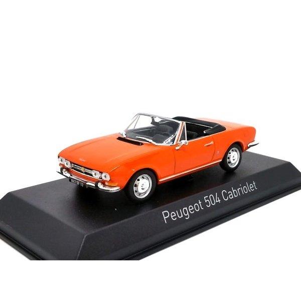 Modellauto Peugeot 504 Cabriolet 1970 orange 1:43