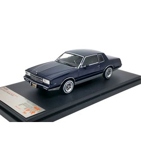 Premium X Chevrolet Monte Carlo 1981 donkerblauw - Modelauto 1:43