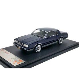 Premium X Chevrolet Monte Carlo 1981 dunkelblau - Modellauto 1:43