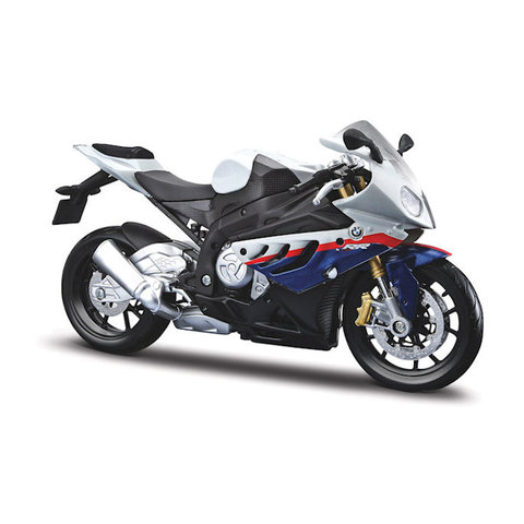 BMW S1000RR 2010 white/blue - model motorcycle 1:12