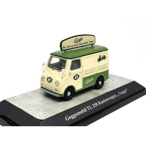Glas Goggomobil TL 250 van 'Goggo' cream/green - Model car 1:43