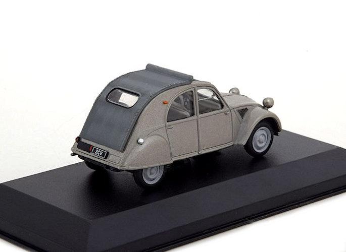 Citroen 2CV    1952-1960  grau metallic IXO//Atlas   1:43