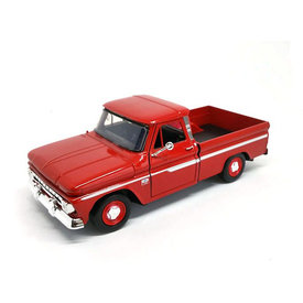 Motormax Chevrolet C10 Fleetside Pickup 1966 rood - Modelauto 1:24