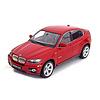 Modelauto BMW X6 rood 1:24