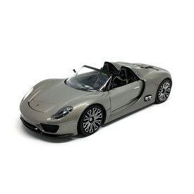 Welly Porsche 918 Spyder silver grey - Model car 1:24