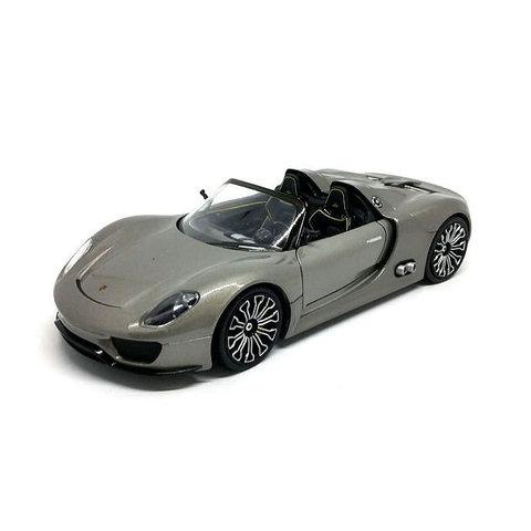 Porsche 918 Spyder silver grey - Model car 1:24