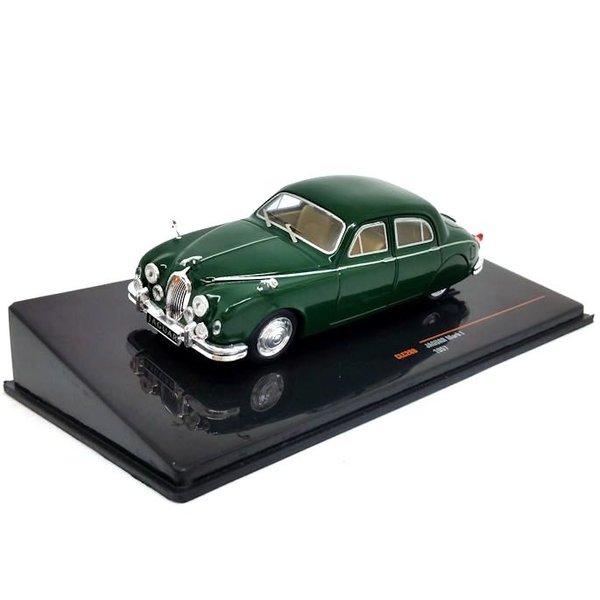 Jaguar Mk I 1957 groen - Modelauto 1:43