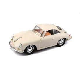 Bburago Porsche 356 B Coupe 1961 cremewit - Modelauto 1:24