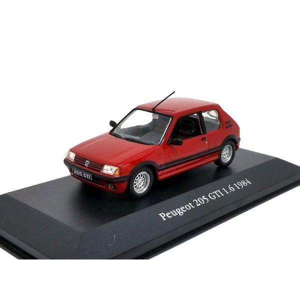 Modelauto Peugeot 205 GTI 1.6 1984 rood 1:43