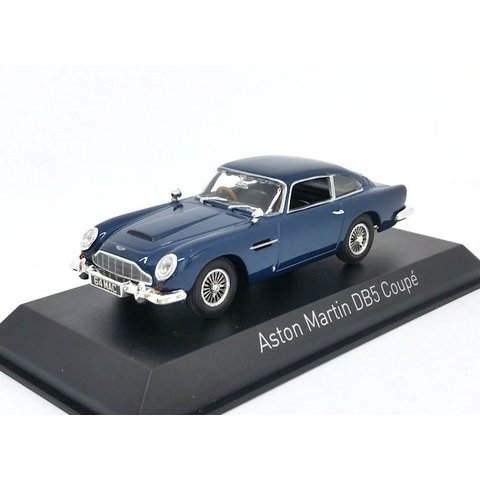 Aston Martin DB5 Coupe 1964 donkerblauw - Modelauto 1:43