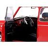 Modelauto Mini Cooper 1.3i Sport Pack  rood/wit met vlag 1:18