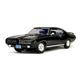 Motormax Pontiac GTO 'Judge' 1969 zwart - Modelauto 1:18