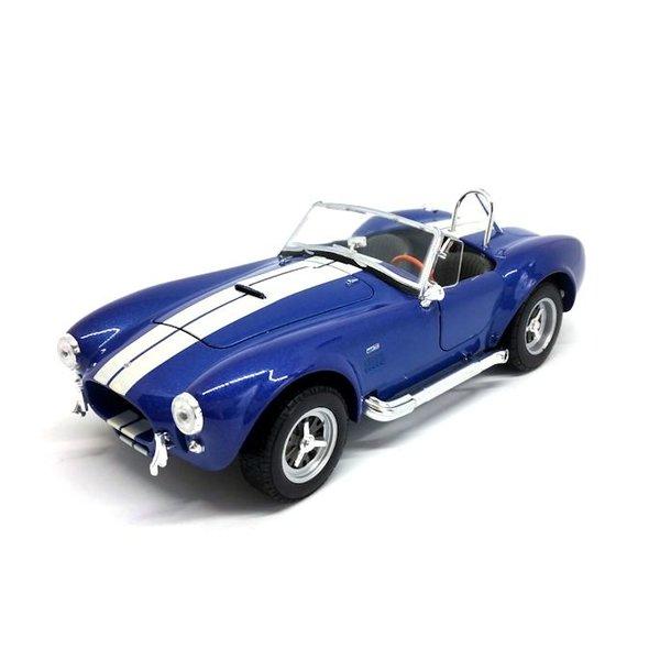 Model car Shelby Cobra 427 S/C 1965 blue 1:24