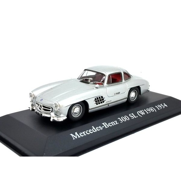 Modelauto Mercedes Benz 300 SL (W198) 1954 zilver 1:43