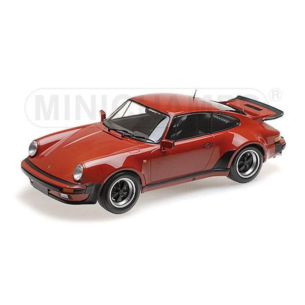 Porsche 911 Turbo 1977 Peru rood - Modelauto 1:12