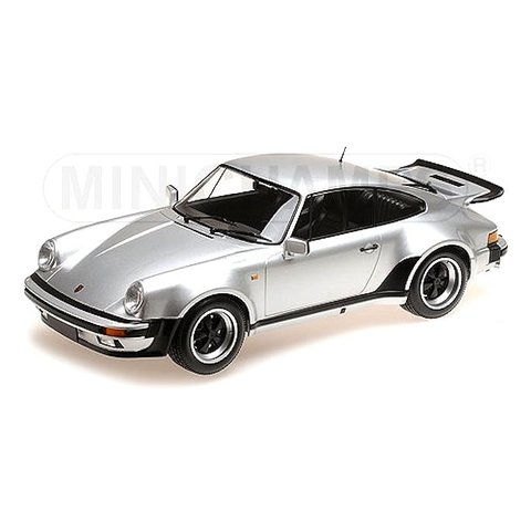 Porsche 911 Turbo 1977 silver - Model car 1:12