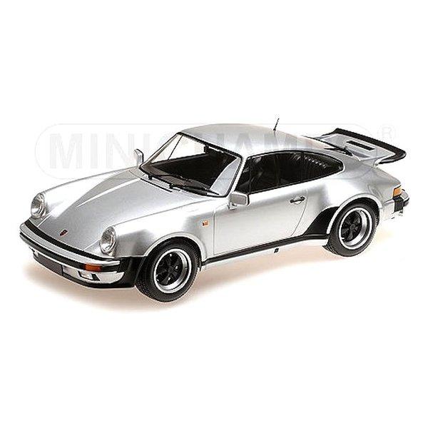 Modelauto Porsche 911 Turbo 1977 zilver  1:12