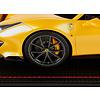 Modellauto Ferrari 488 Pista gelb 1:18