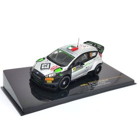 Ixo Models Ford Fiesta RS WRC No. 3 2016 silver/black - Model car 1:43