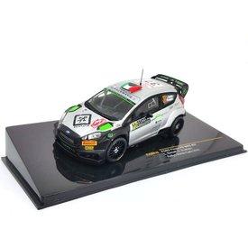 Ixo Models Ford Fiesta RS WRC No. 3 2016 zilver/zwart - Modelauto 1:43