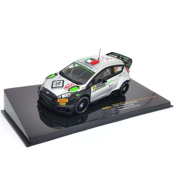 Modelauto Ford Fiesta RS WRC No. 3 2016 zilver/zwart 1:43