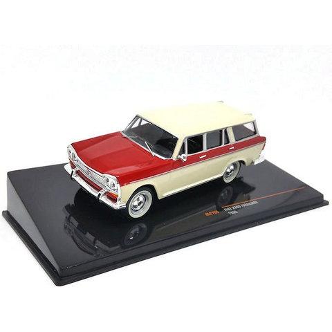Fiat 2300 Familiare 1965 creme/rood - Modelauto 1:43