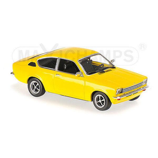 Model car Opel Kadett C Coupe 1974 yellow 1:43 | Maxichamps