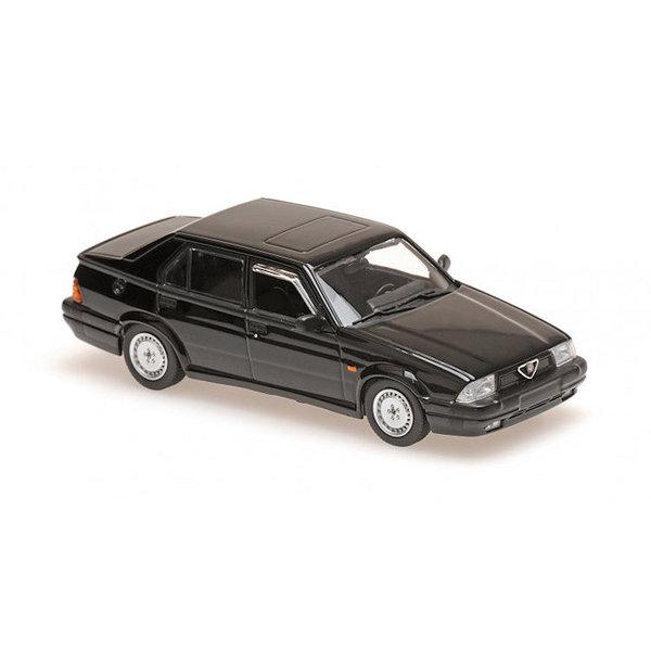 Model car Alfa Romeo 75 V6 3.0 America 1987 black 1:43
