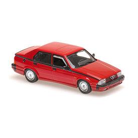 Maxichamps Alfa Romeo 75 V6 3.0 America 1987 rood - Modelauto 1:43