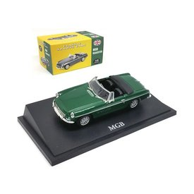 Atlas MG MGB Cabriolet 1964 dark green - Model car 1:43
